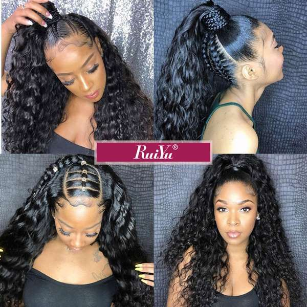 Ruiyu Natural Curly 360 Lace Front Wigs Pre Plucked With Baby Hair Full Wig