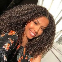 Ruiyu Afro Kinky Curly Wigs Virgin Hair 360 Lace Front Wigs Can Ponytail