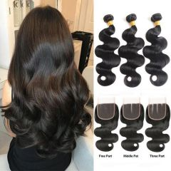 Ruiyu Body Wave Hair Extension With Lace Closure 100% Human Hair