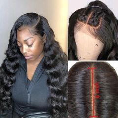 Ruiyu New Design 13x6 Lace Front Wig Body Wave Deep Part Frontal Wig