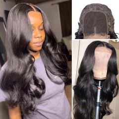 Body Wave Hair 4x4 Closure Wig Pre Plucked Affordable Human Hair Wigs