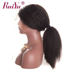 Ruiyu Kinky Straight Hair Unprocessed Virgin Hair Best Wigs 360 Lace Front Wigs