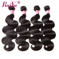 Ruiyu 4 Bundles Peruvian Hair Body Wave Virgin Hair Extensions