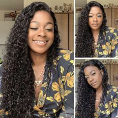 Ruiyu Pre-plucked 360 Lace Front Wigs Water Wave Human Hair Virgin Hair Wigs