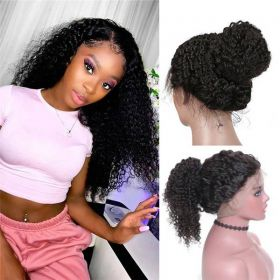RuiYu Glueless Full Lace Wigs Kinky Curly 100% Human Hair Wigs For Women