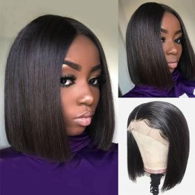 RuiYu Bob Straight Wigs Lace Front Human Hair Wigs Short Bob Wigs For Black Women