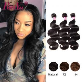 RuiYu 100% Human Hair Brazilian Real human Hair Body Wave 3 Bundles