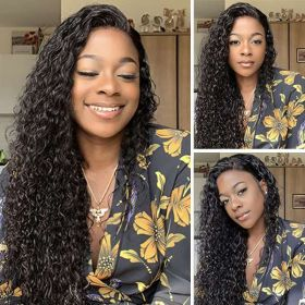 Ruiyu Wet And Wavy 360 Lace Front Wigs Glueless Water Wave Human Hair