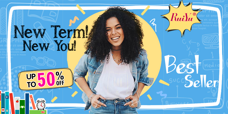 Happy back to school with new style!50%off & big coupon from RuiYu hair