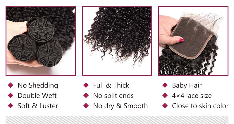 double weft extentions kinky curly bundles true to length